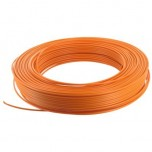 Fil H07 V-U (Rigide) 1,5 mm² - Couronne 100 m - Orange - Réf : 000705