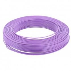 Fil H07 V-U 1,5 mm² - Couronne 100 m - Violet - Réf : 20035355
