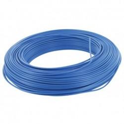 Fil H07 V-U (Rigide) 2,5 mm² - Couronne 100 m - Bleu - Réf : 001205
