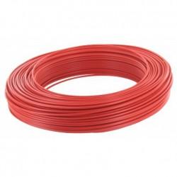 Fil H07 V-U 2,5 mm² - Couronne 100 m - Rouge - Réf : 20032320