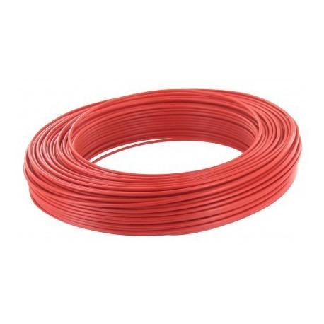 Fil H07 V-U 2,5 mm² - Couronne 100 m - Rouge - Réf : 20035320