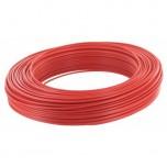 Fil H07 V-R 6 mm² - Couronne 100 m - Rouge - Réf : 002805