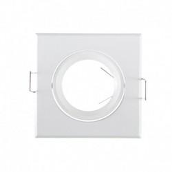Vision-EL - Spot carré - Orientable - Blanc - 84x84 mm - Réf : 7706