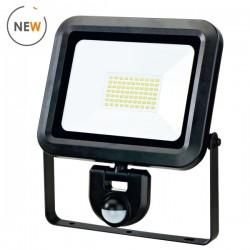 Woltz - Projecteur à LED étanche - à détection - 50W - Réf : 811225