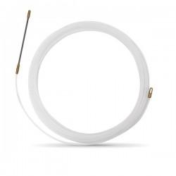 Tire fil nylon de 10m blanc Ø3mm à embout fixe - Réf : 439140