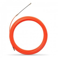 Tire fil nylon de 20m orange Ø4mm à embout interchangeable - Réf : 439141