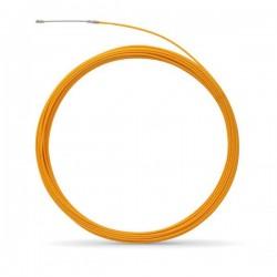 Tire fil polyester de 30m jaune Ø5mm à embout interchangeable - Réf : 439142