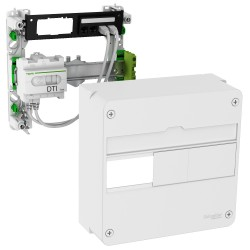 Schneider - LexCom Home - coffret de communication rénovation - basic - 4 RJ45 - 1R - Réf : VDIR390014