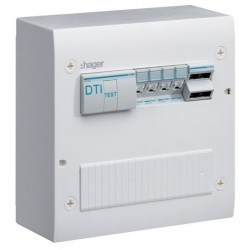 Hager - Coffret de com semi-équ. 4xRJ45 Gr. 2TV - Réf : TN405