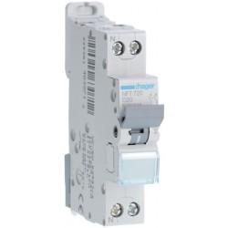 Hager - Disjoncteur 1P+N 6-10kA courbe C - 20A 1 module - Réf : NFT720
