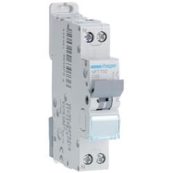 Hager - Disjoncteur 1P+N 6-10kA courbe C - 32A 1 module - Réf : NFT732