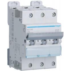 Hager - Disjoncteur 3P 6-10kA courbe C - 10A 3 modules - Réf : NFT310