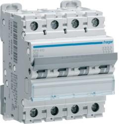 Hager - Disjoncteur 4P 6-10kA courbe C - 10A 4 modules - Réf : NFN410