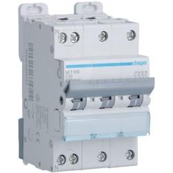 Hager - Disjoncteur 3P+N 6-10kA courbe C - 10A 3 modules - Réf : NFT810