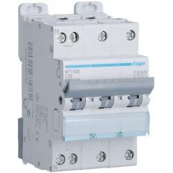 Hager - Disjoncteur 3P+N 6-10kA courbe C - 32A 3 modules - Réf : NFT832