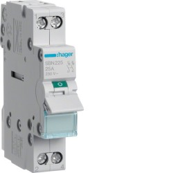 Hager - Interrupteur modulaire 2 pôles 25A - Réf : SBN225