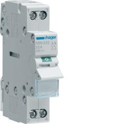 Hager - Interrupteur modulaire 2 pôles 32A - Réf : SBN232