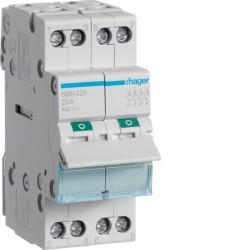Hager - Interrupteur modulaire 4 pôles 25A - Réf : SBN425