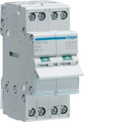 Hager - Interrupteur modulaire 4 pôles 32A - Réf : SBN432