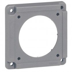 Legrand - Plaque adaptation Hypra pour fixation de prises sur les coffrets de prises - avec vis de fixation - Réf : 052118