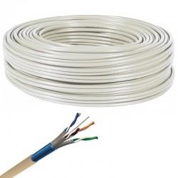Axitronic Résidentiel - Câble multimédia grade 3 TV F/FTP 4P - LZSH - Réf : G3TV45