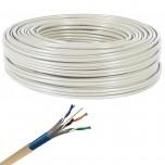 Axitronic Résidentiel - Câble multimédia grade 3 TV F/FTP 4P - LZSH - couronne de 100m - Réf : G3TV45