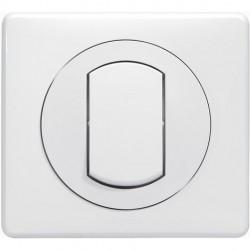 Legrand - Interrupteur ou va-et-vient avec plaque Céliane Soft étanche - 10 A - Blanc - Blanc - Réf : 099161
