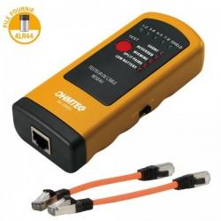 Ohmtec - Testeur de câble réseau RJ45 + 2 câbles 15cm - Réf : 504002