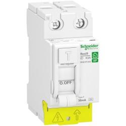 Schneider - RESI9 XP - interrupteur différentiel - 2P - -63A - 30mA - Type Fsi - peignable - Réf : R9PRF263