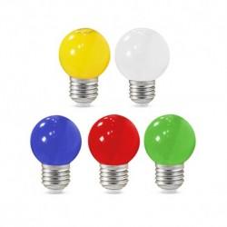 Vision-EL - Ampoule LED 1W bulb E27 x 5 couleurs - Réf : 76160