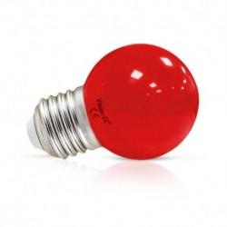 Vision-EL - Ampoule LED 1W bulb E27 rouge - Réf : 76182