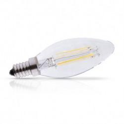 Vision-EL - Ampoule LED à filament - flamme E14 4W 2700°k claire - Réf : 71271