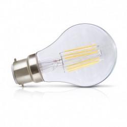 Vision-EL - Ampoule LED à filament - bulb B22 8W 2700°k claire - Réf : 7140