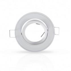 Vision-EL - Support plafond Rond Orientable Blanc Ø86 mm - Réf : 7702