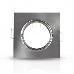 Vision-EL - Support plafond Carré Orientable Argent 85 x 85 mm - Réf : 7707