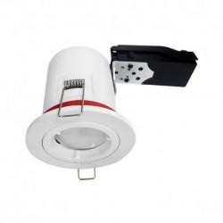 Vision-EL - Support plafond BBC Rond Blanc avec douille automatique Ø88 mm - Réf : 7718