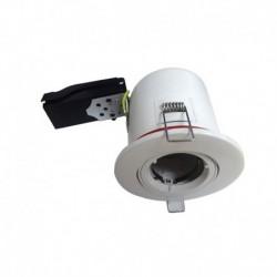 Vision-EL - Support plafond BBC Rond orientable Blanc avec douille automatique Ø100 mm - Réf : 7719