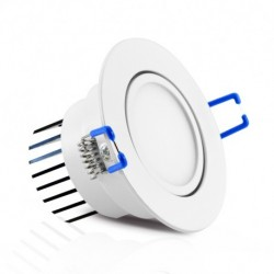 Vision-EL - Spot LED Orientable + Alimentation Electronique 3W 3000°K - Réf : 76310