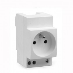 Ohmtec - Prise modulaire 2 P+T - Réf : 423625