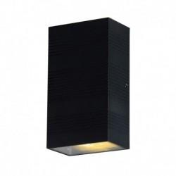 Vision-EL - Applique murale LED 2x5W rectangulaire 4000°k gris anthracite IP54 - Réf : 67802