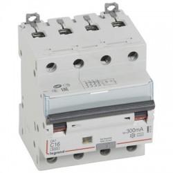 Legrand - Disjoncteur différentiel monobloc DX³6000 10kA à vis 4P 400V~ - 16A - typeA 300mA - Réf : 411239