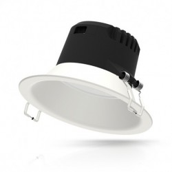 Vision-EL - Downlight LED blanc rond 173mm 12W 6000k basse luminance IP20 1200 lm - Réf : 76537