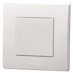 Yokis - Télécommande Murale 1 touche - Power - Code article : 5454417 - Réf : TLM1T45P