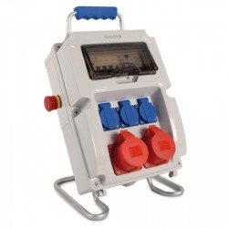 Ohmtec - Coffret de chantier pré-équipé avec dispositif d'arrêt d'urgence - Réf : 423161