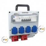 Ohmtec - Coffret d'atelier monophase & triphasé 4 prises 16A 230V et 2 prises 16A 400V - Réf : 423300