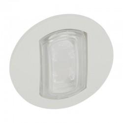 Legrand Céliane - Enjoliveur avec porte étiquette Céliane IP44 pour référence 067001 ou 067031 - Blanc - Rèf : 067805