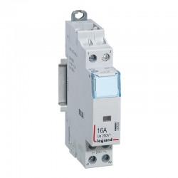 Legrand - Contacteur de puissance CX³ bobine 24V~ sans commande manuelle - 2P 250V~ 16A - contact O+F - 1 module - Rèf : 412503