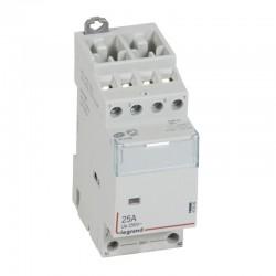 Legrand - Contacteur de puissance CX³ bobine 24V~ sans commande manuelle - 4P 400V~ - 25A - contact 2O+2F - 2 M - Rèf : 412509