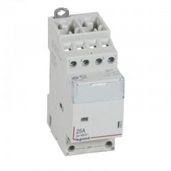 Legrand - Contacteur de puissance CX³ bobine 24V~ sans commande manuelle - 4P 400V~ - 25A - contact 4F - 2 M - Rèf : 412510