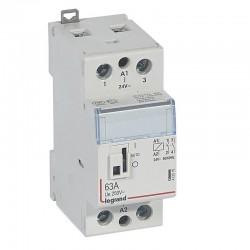 Legrand - Contacteur de puissance CX³ commande manuelle bobine 24V~ - 2P 250V~ - 63A - contact 2F - 2 M - Rèf : 412516